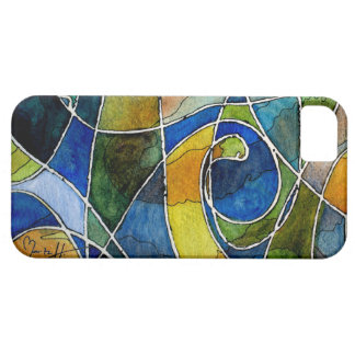 Abstract Watercolor Pen & Ink iPhone 5 Cases
