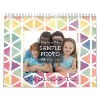Abstract Watercolor Personal or Family Photo Calendar