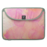 Abstract Watercolor Pink Orange Apricot Yellow MacBook Pro Sleeve