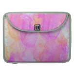 Abstract Watercolor Pink Orange Apricot Yellow Sleeve For MacBook Pro
