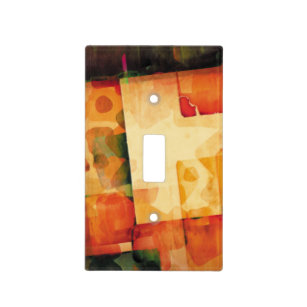 Abstract Watercolor Print Light Switch Cover