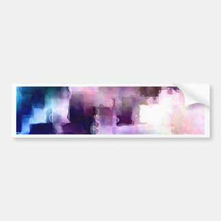 Abstract watercolor rectangle background bumper sticker