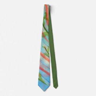 Abstract watercolor seaweed tie