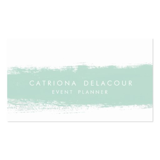 Abstract Watercolor Splash Business Card
