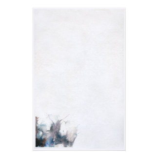 abstract watercolor stationery
