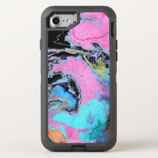 Abstract Watercolor Swirl OtterBox Defender iPhone 7 Case