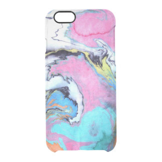 Abstract Watercolor Swirl Uncommon Clearly™ Deflector iPhone 6 Case