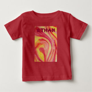 Abstract watercolor swirls of warm color baby T-Shirt