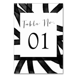 Abstract Watercolor | Table Numbers Card