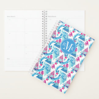 Abstract Watercolor Tropical Leaf Pattern Planner
