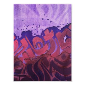 Abstract watercolor violet poster