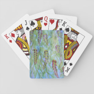 Abstract watercolor wisteria playing cards