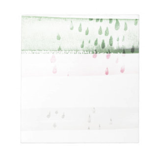 abstract watercolour note pad