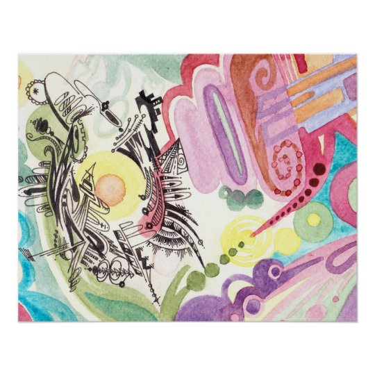 Abstract Watercolour Poster # 1