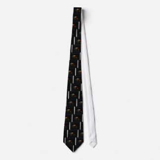 Abstract Waterdrops on Black Neck Tie