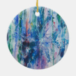 Abstract Waterfall Ornament