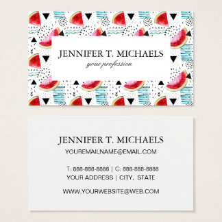 Abstract Watermelon Pattern Business Card