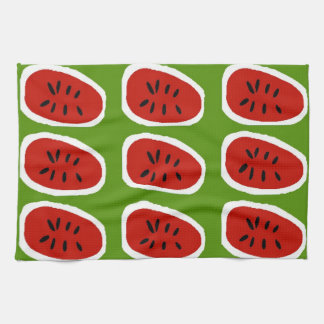 Abstract Watermelon Slices Kitchen Towel