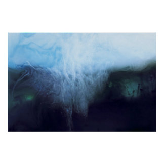 Abstract Waters Photograph Ink and Water Poster