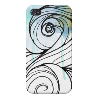 Abstract Wave 009 Covers For iPhone 4