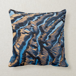 Abstract wave pattern cushion