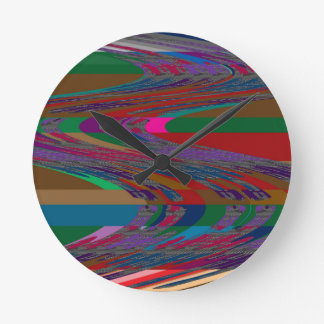 Abstract Wave RACE COURSE Gamble Horses Bet FUN Round Wall Clocks