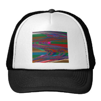 Abstract Wave RACE COURSE Gamble Horses Bet FUN Trucker Hat