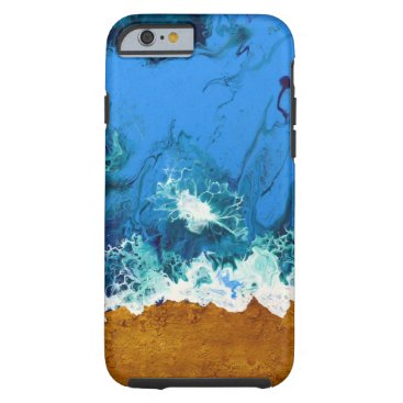 Abstract wave textured beach iPhone 6/6s case
