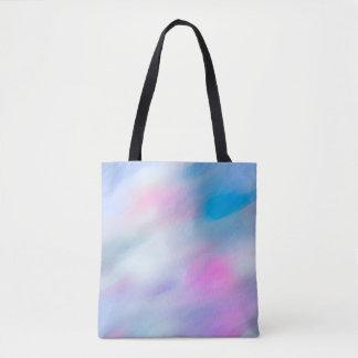 Abstract Wave Watercolor Multicolor Tote Bag