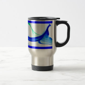 Abstract Waves 15 Oz Stainless Steel Travel Mug