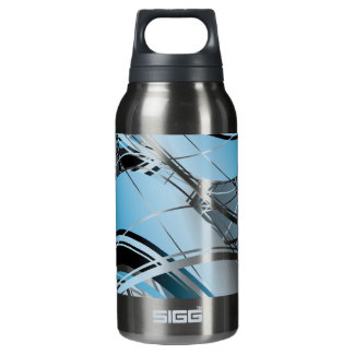 Abstract Waves Background Insulated Water Bottle