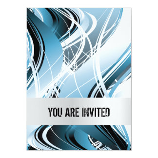Abstract Waves Background Invitations