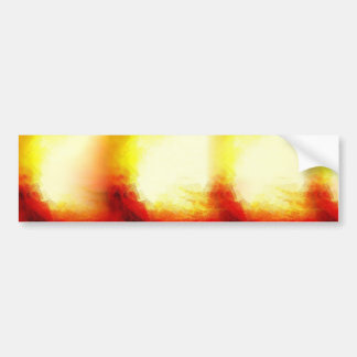 Abstract Waves Car Bumper Sticker