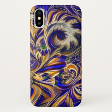 Abstract waves iPhone x case