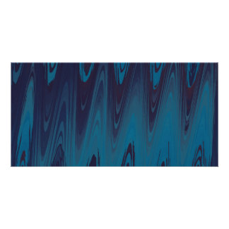 Abstract Waves in Blue Card