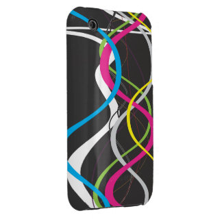 Abstract Waves iPhone 3 Case-Mate Cases