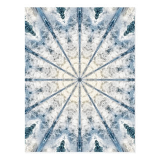 Abstract waves kaleidoscope greeting card