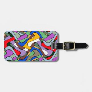 Abstract Waves Bag Tag