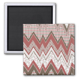 Abstract Waves 2 Inch Square Magnet