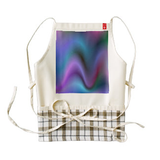 Abstract Waves of Sound Zazzle HEART Apron