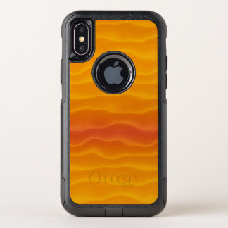 Abstract Waves of Yellow and Orange OtterBox Commuter iPhone X Case