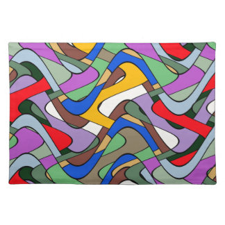 Abstract Waves Place Mats