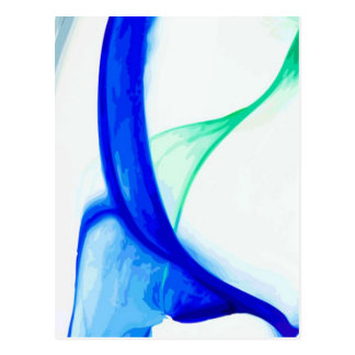 Abstract Waves Postcard