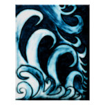 Abstract Waves Posters