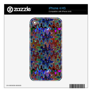 Abstract Waves Template add TEXT IMAGE Greetings Skins For iPhone 4S