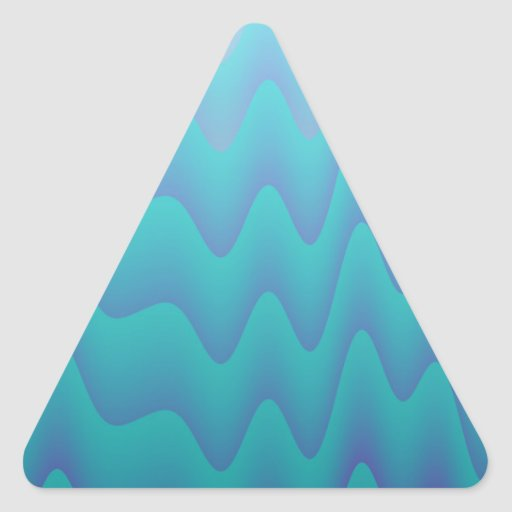 Abstract Waves Turquoise Blue Stickers