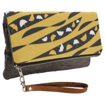 Abstract Waves with White and Yellow Ginkgo Leaves Clutch