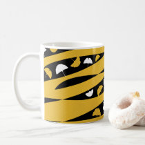 Abstract Waves with White and Yellow Ginkgo Leaves Coffee Mug