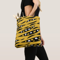Abstract Waves with White and Yellow Ginkgo Leaves Tote Bag