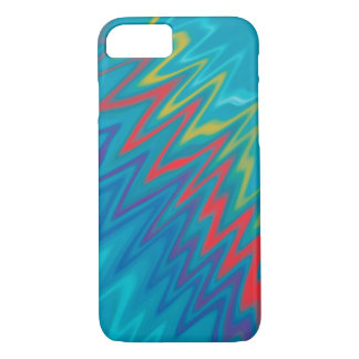 Abstract wavey BLUE iPhone 8/7 Case